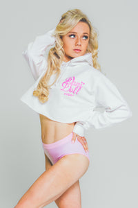"Dani Doll Original Cropped College Hoodie   ""Cutest Bow"""