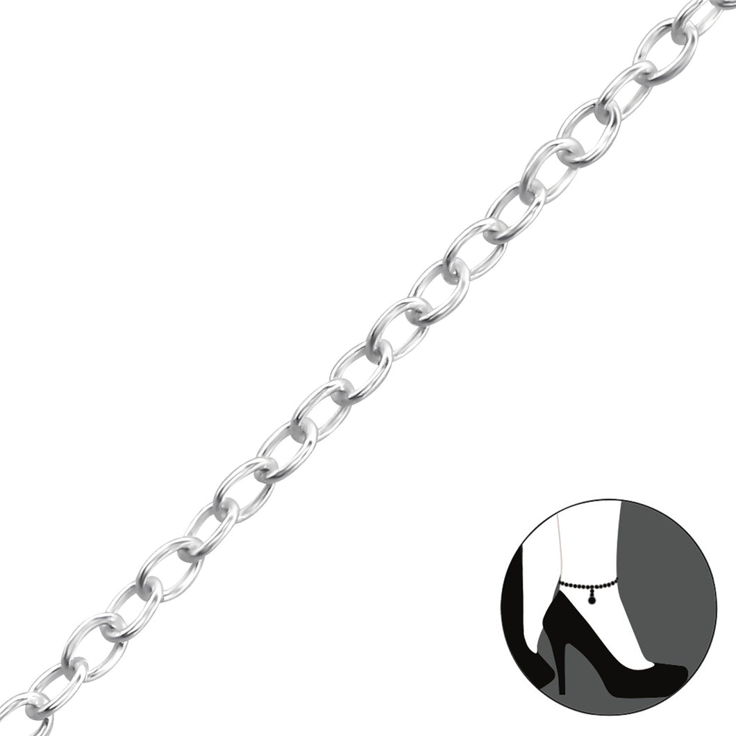 Simple - Sterling Silver Anklet