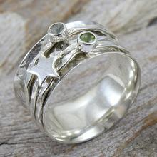 Heart Moonstone - Most Popular Meditation Spinner Ring