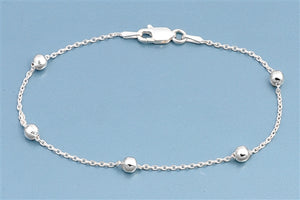 Ball Single Italian Sterling Silver Bracelet