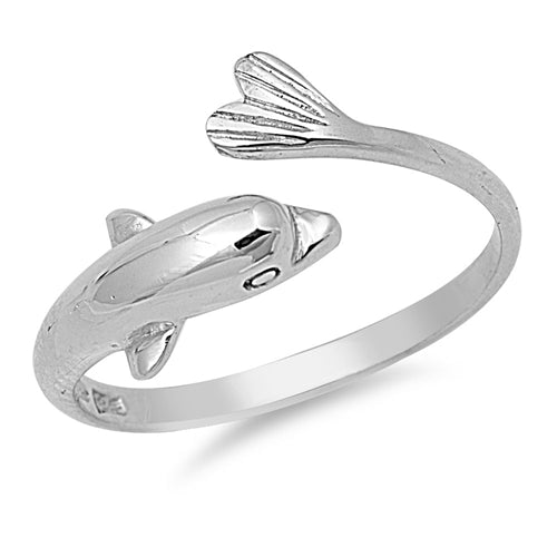 Dolphin - Adjustable Toe Ring