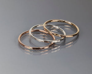 Hammered Band (Delicate/Stackable) - Toe/Midi Rings