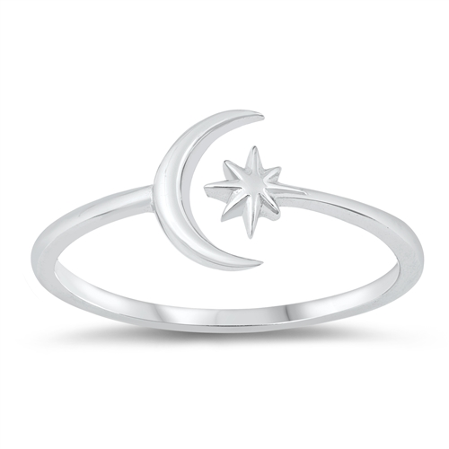Star and Crescent Adjustable Ring