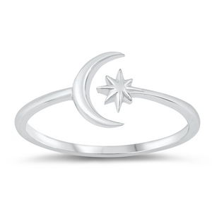 Star & Crescent Moon Adjustable Toe Ring