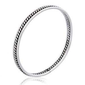 Edgy Twist  - Oxidized Stacking Ring