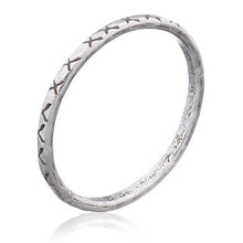 "Tribal ""X""  - Stacking Ring"