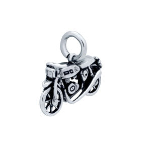 Motorcycle - Sterling Silver Charm