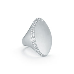 Jade Trau Adele Ring in 18K White Gold