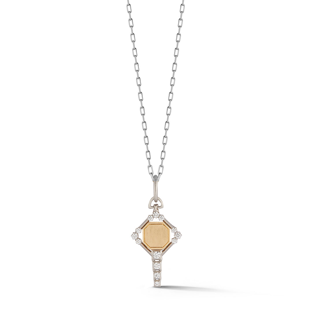 Harlow Two-Tone Key Charm
