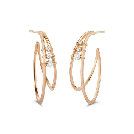 Small Penelope Double Hoop Earrings