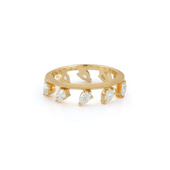 Hanging Pear-Shape Kismet Ring