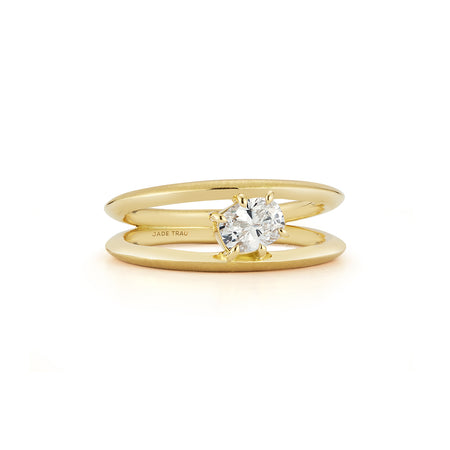 Sadie Oval Solitaire Ring (0.44tcw)