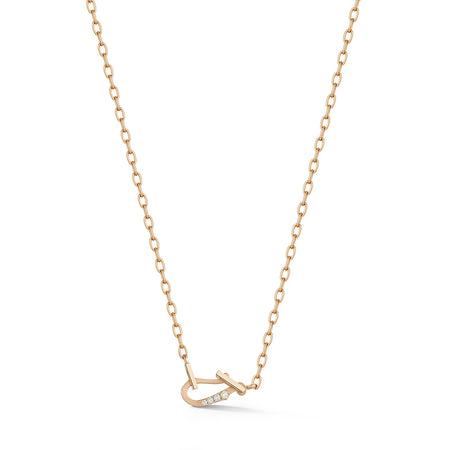Mini Diamond Loop Necklace