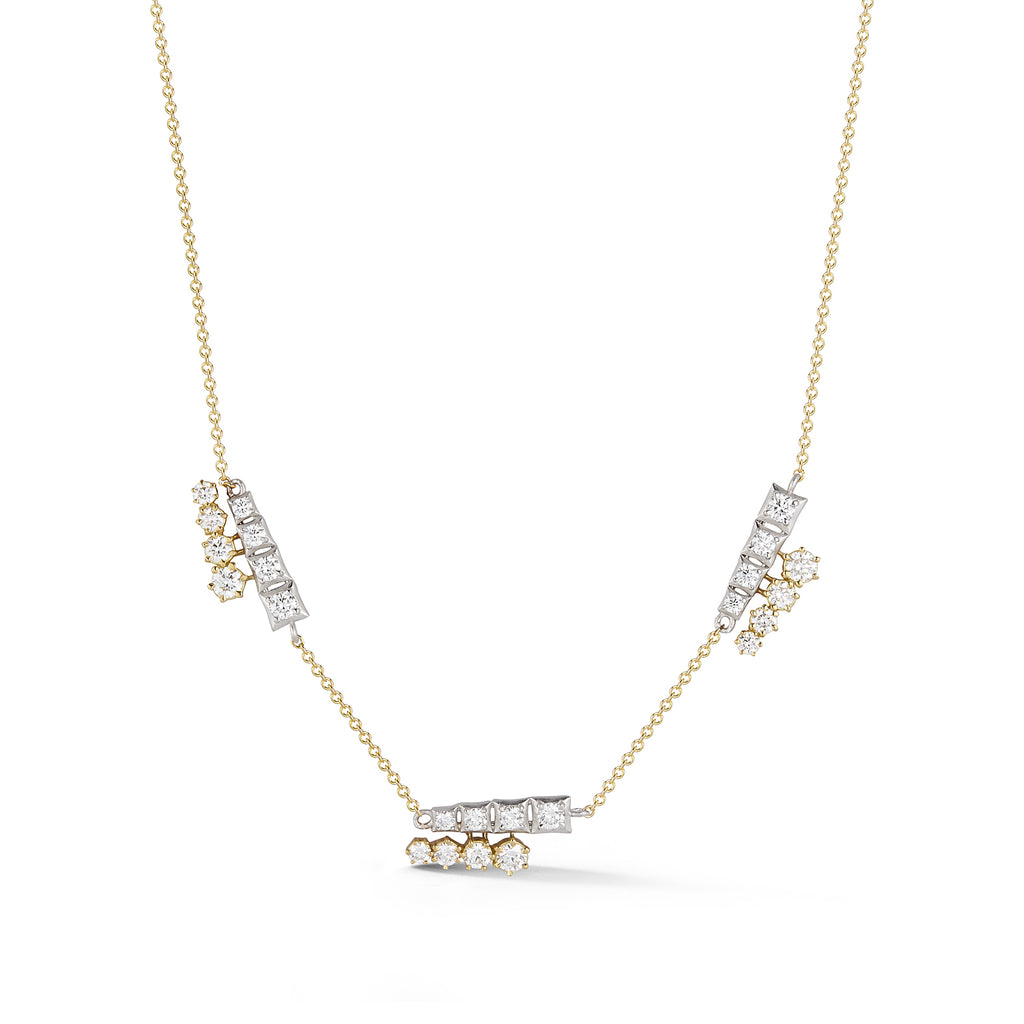 Harlow Two-Tone Three Station Necklace