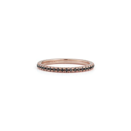 Black Micro Pave Eternity Band No.35