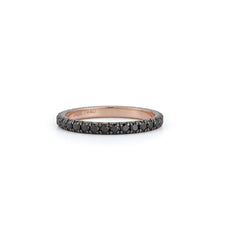 Black Pave Eternity Band