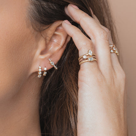 Rae Studs With Pave
