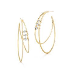 Penelope Double Hoop Earrings