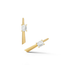 Emerald Cut Rae Studs