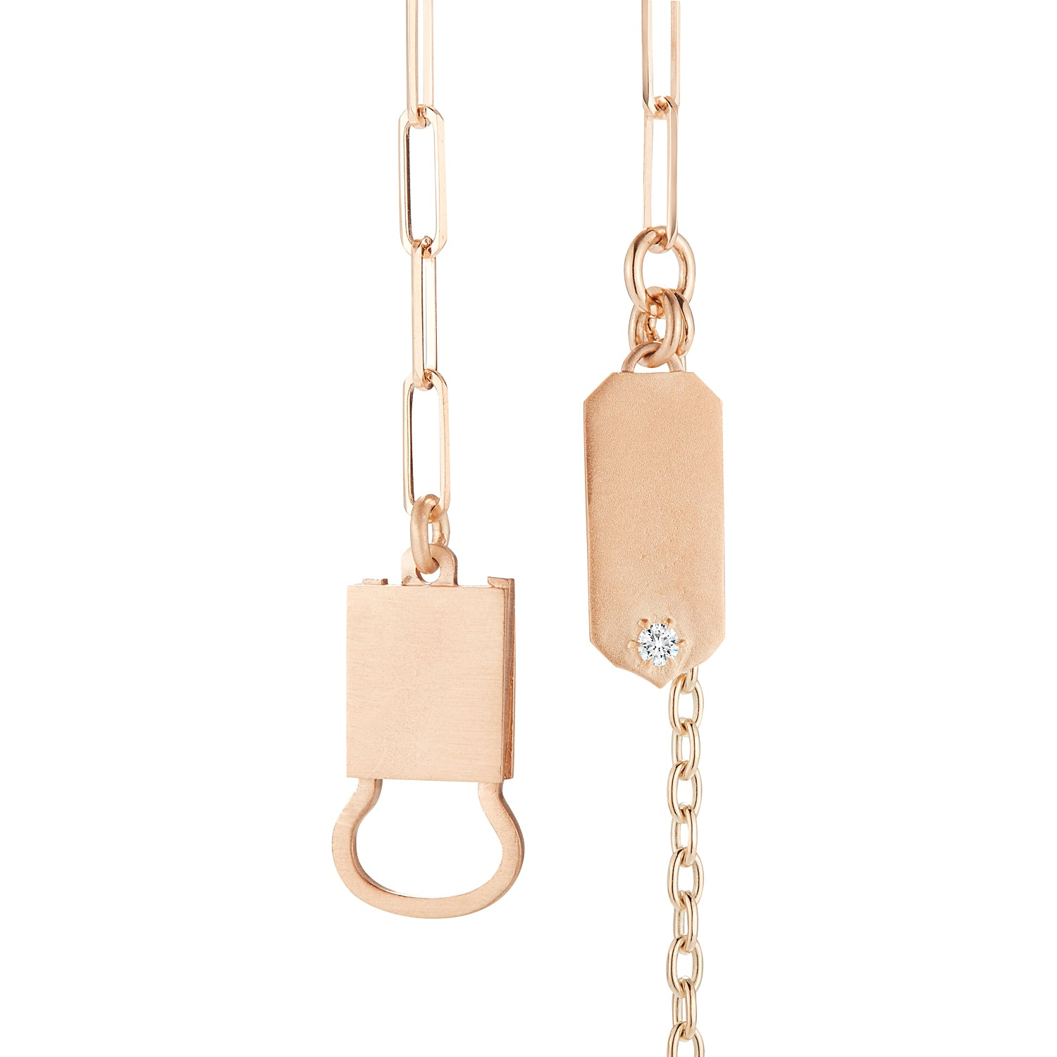 Jade Trau Betty Necklace in 18K Rose Gold