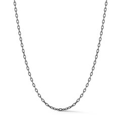 Black Oval Link Necklace