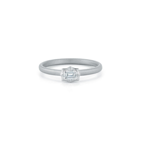 Vanguard Solitaire Stackable Ring