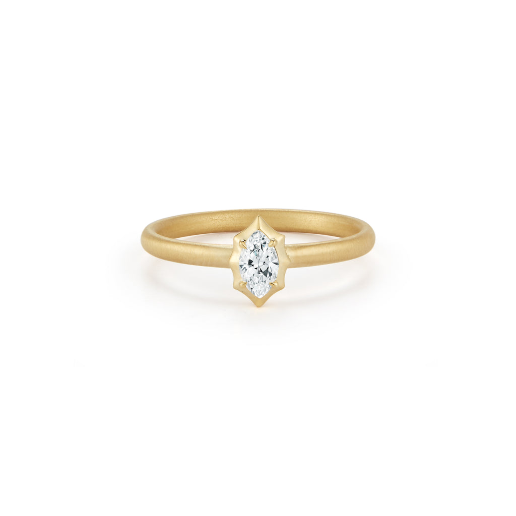 Maverick Solitaire Stackable Ring