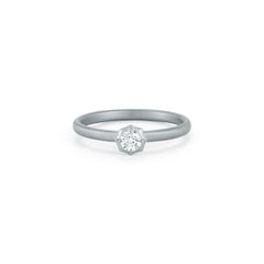 Sophisticate Solitaire Stackable Ring