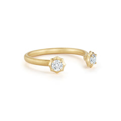 Sophisticate Two Stone Open Stackable Ring
