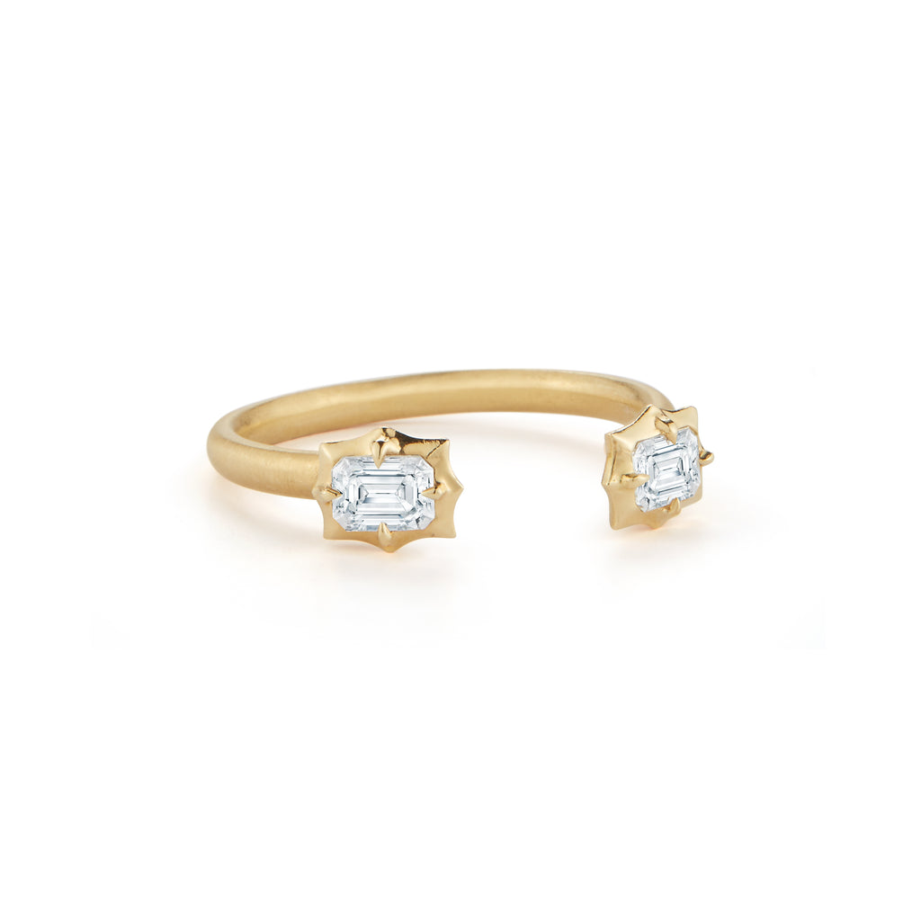 Vanguard Two Stone Open Stackable Ring