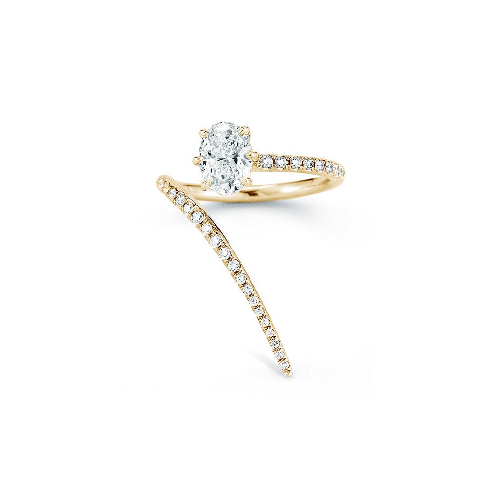 Rae Wrap Ring With Pave (Setting)