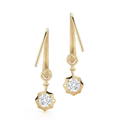 Sophisticate Small Hoops with Single Drops