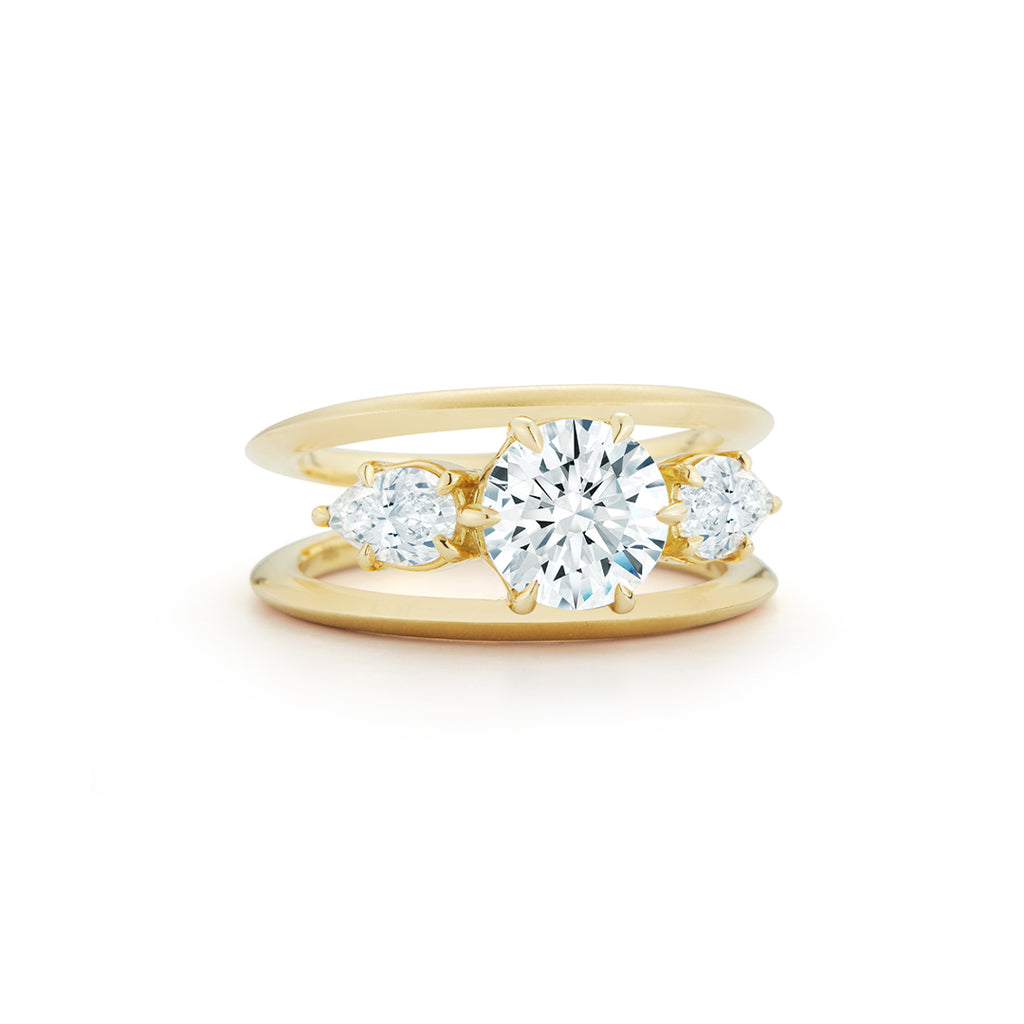 Sadie Three Stone Ring (2.17 tcw)