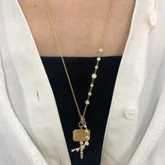 Single Station Stiletto Necklace