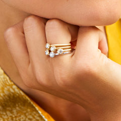 Sophisticate Solitaire Stacking Ring