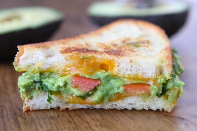 Guacamole Grilled Cheese Sandwich