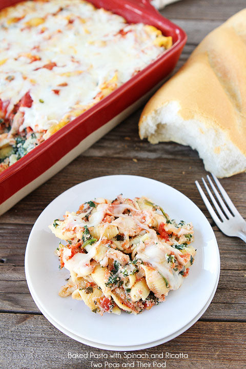 Baked Pasta with Spinach and Ricotta