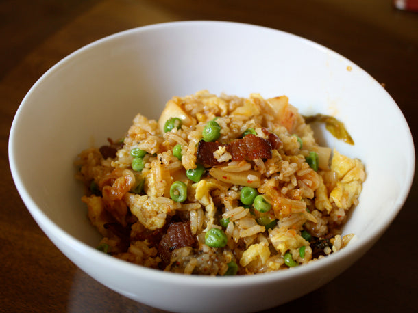 Dinner Tonight: Bacon and Kimchi Fried Rice