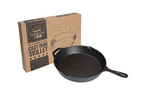 Fresh Australian Kitchen Pre-Seasoned Cast Iron Skillet 12.5 Inch.