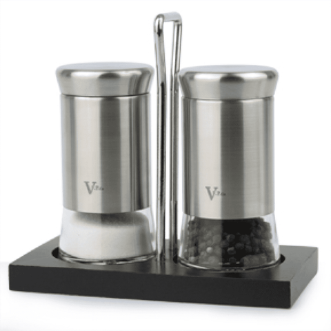 2-Piece Salt & Pepper Shaker Set with Stand