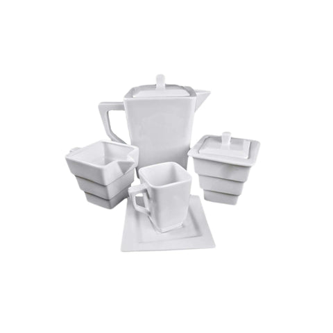 Square Collection 1L Porcelain Teapot