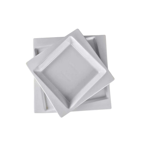 "Square Collection 8.7"" (22 cm) Porcelain Soup Plate"