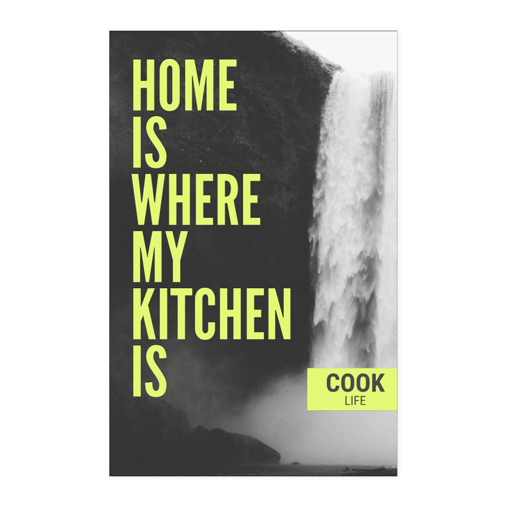 Original Cooking Temple Design - Kitchen Lovers Poster