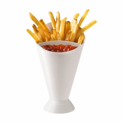 Kitchen Potato Tool Tableware French Fry Cone with Dipping Cup