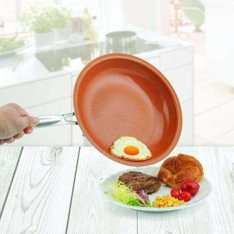 Non Stick Copper Frying Pan with Ceramic Coating and Induction
