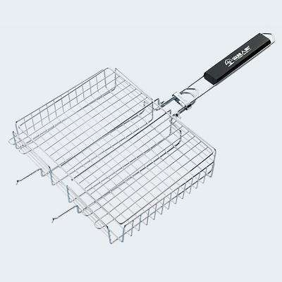 Non-Stick Grilling Basket with Rosewood Handle