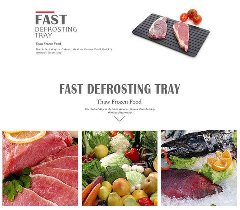 Fast Defrosting Tray - The Safest Way to Defrost Meat or Frozen Food