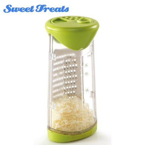 Sweettreats Cheese Grates and Measure with Etched Stainless Steel Grating Cheese Wire Cutter Kitchen Tools