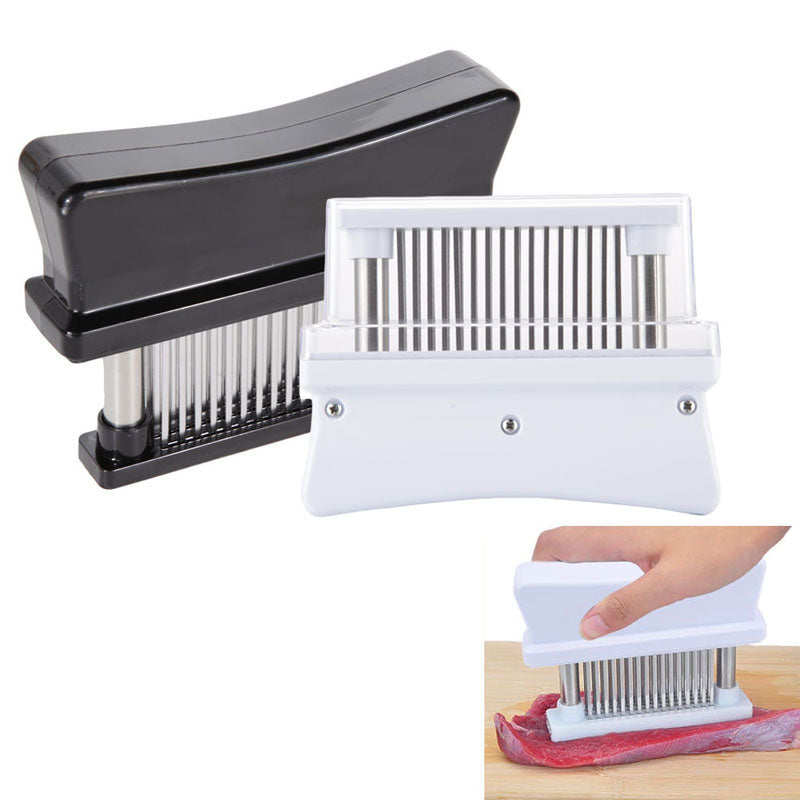 Meat Tenderizer with 48 Sharp Stainless Steel Blades