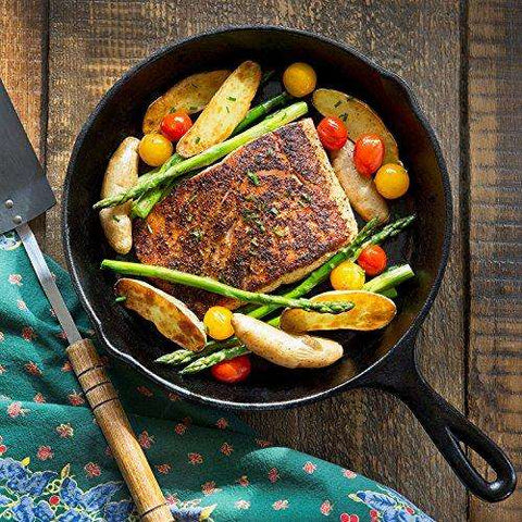 Simple Chef Cast Iron Skillet 3-Piece Set